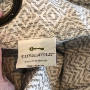 Threshold Accents - Threshold gray and white curtain